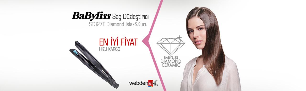 BaByliss ST327E Diamond Islak&Kuru Saç Düzleştirici