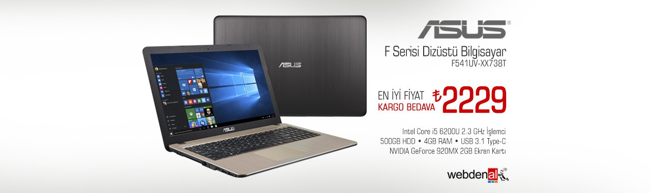 Asus F Serisi F541UV-XX738T Laptop