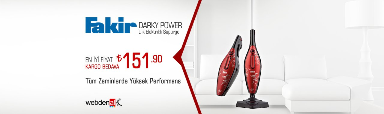 Fakir Darky Power Rouge Dik Elektrikli Süpürge