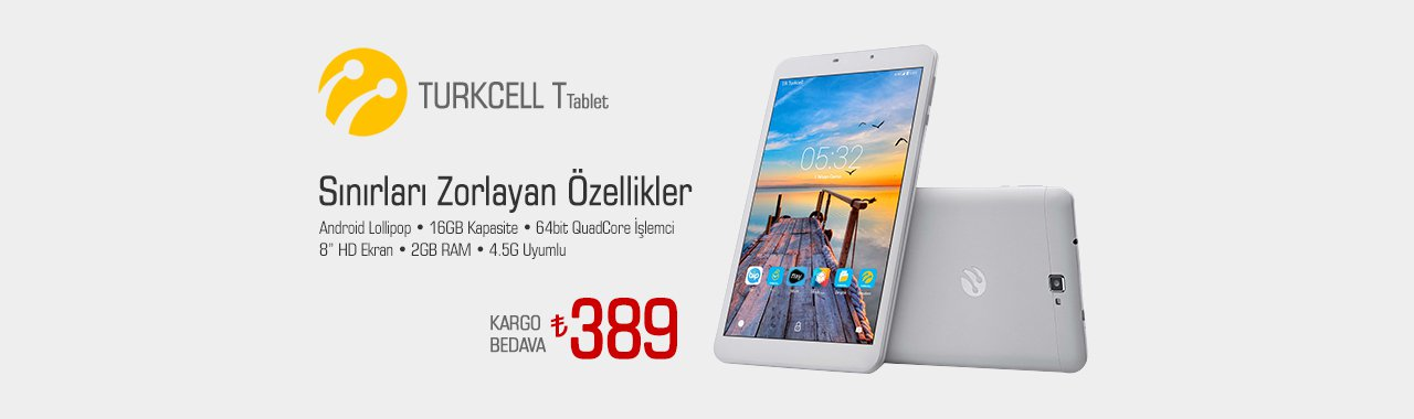 Turkcell T 16GB Wi-Fi+4.5G Tablet