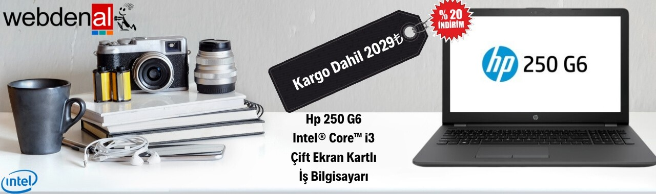 HP 3QM27EA 250 G6 İş Laptopu