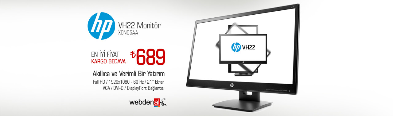 """HP VH22 21.5"""" 5ms Full HD Monitör"""