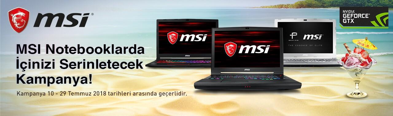 MSI Notebooklarda Temmuz Fırsatları Webdenal'da...