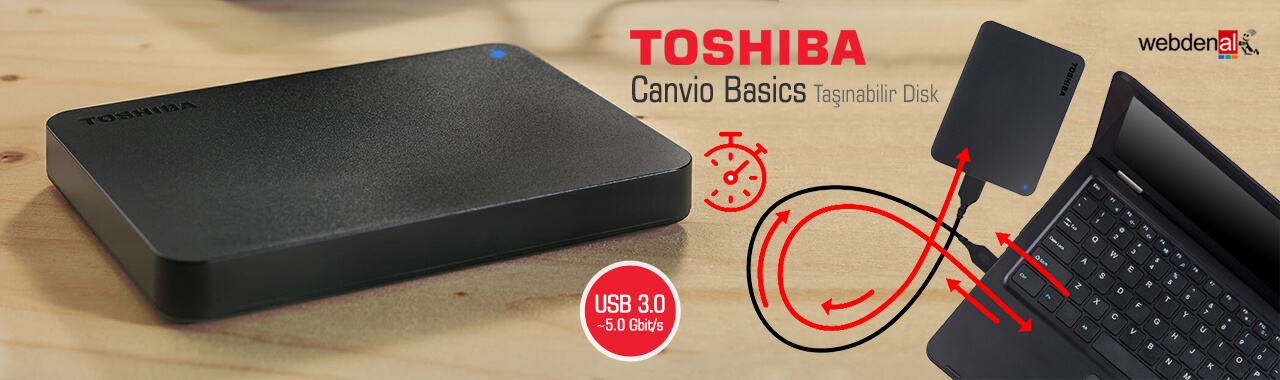 Toshiba Canvio Basics Taşınabilir Disk