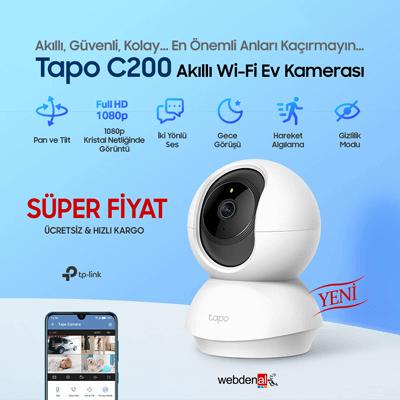 TP-Link Tapo C200 360° 1080p Wi-Fi Ev Güvenlik Kamerası