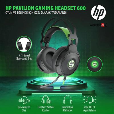 HP 4BX33AA Pavilion 600 Gaming Kulaklık