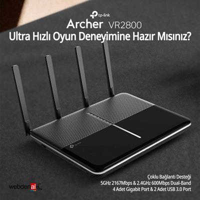 TP-Link Archer VR2800 Kablosuz VDSL/ADSL Modem Router