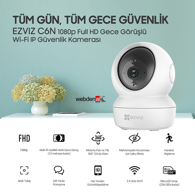 Ezviz C6N 1080p Full HD Gece Görüşlü Wi-Fi IP Güvenlik Kamerası