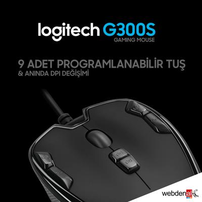 Logitech G300s Kablolu Gaming Mouse